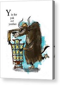 Yak Acrylic Prints