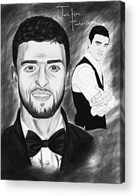 Secret Agent Justin Timberlake Acrylic Prints