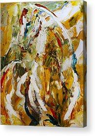 Dressage Horse Acrylic Prints