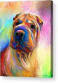 Custom Pet Portrait Acrylic Prints
