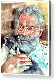 Ernest Hemingway Acrylic Prints