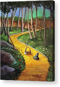 Yellow Brick Road Acrylic Prints