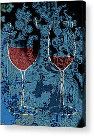 Dinner For Two Paintings Acrylic Prints