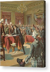 Philadelphia History Drawings Acrylic Prints