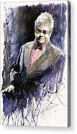 Elton John Paintings Acrylic Prints