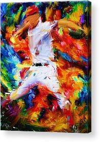 Baseball Players Acrylic Prints