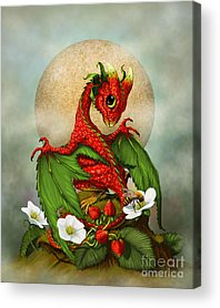 Strawberries Digital Art Acrylic Prints