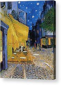 Cafes At Night Acrylic Prints