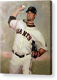 Sf Giants Vogelsong Acrylic Prints