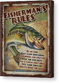 Fishing Tackle Acrylic Prints
