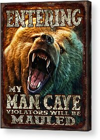 Growling Acrylic Prints