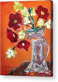 Poppies Paintings Acrylic Prints