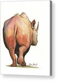 Rhinoceros Paintings Acrylic Prints