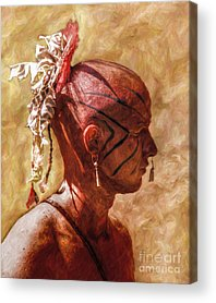 French And Indian War Digital Art Acrylic Prints