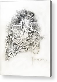 Stratocaster Drawings Acrylic Prints