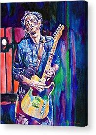 Keith Richards Acrylic Prints