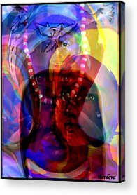 Yemaya Paintings Acrylic Prints