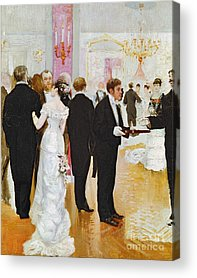 Evening Wear Paintings Acrylic Prints