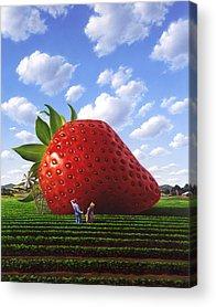 Strawberries Acrylic Prints