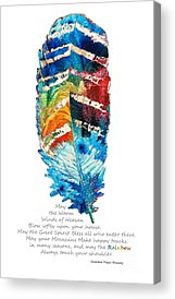 Blessings Paintings Acrylic Prints