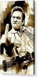 Johnny Cash Acrylic Prints