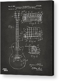 Patent Drawing Acrylic Prints