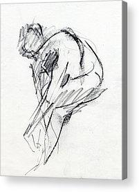 Figure Drawings Acrylic Prints