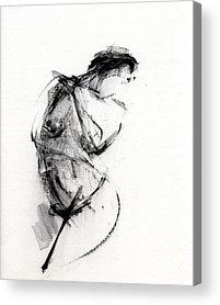 Nude Drawing Paintings Acrylic Prints