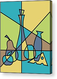 Cheese Green Pears Acrylic Prints