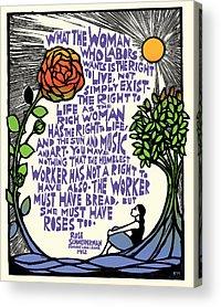 Feminist Mixed Media Acrylic Prints