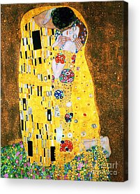 The Kiss Paintings Acrylic Prints
