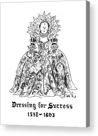 Ball Gown Drawings Acrylic Prints