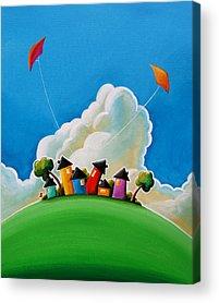 Colorful Houses Acrylic Prints