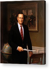 George Bush Acrylic Prints