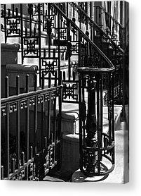 Black And White Ornamental Acrylic Prints