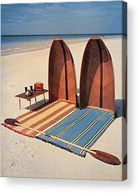 Beach Towel Acrylic Prints