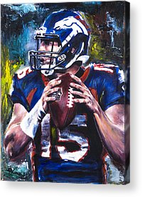 Tim Tebow Paintings Acrylic Prints