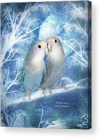 Winter Scene Mixed Media Acrylic Prints