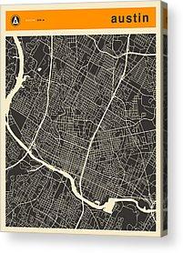 Abstract Map Acrylic Prints