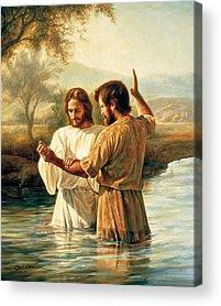 Baptism Paintings Acrylic Prints
