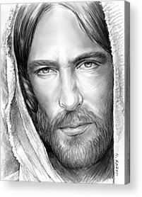 Jesus Drawings Acrylic Prints