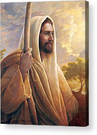 Smiling Jesus Paintings Acrylic Prints
