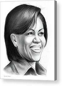 Michelle Obama Acrylic Prints