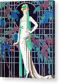 Grapes Art Deco Acrylic Prints