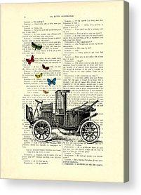 Vintage Dictionary Acrylic Prints