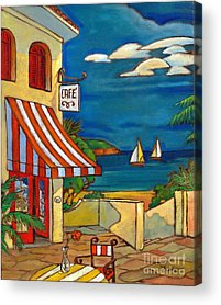 Portofino Cafe Acrylic Prints