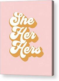 She Acrylic Prints