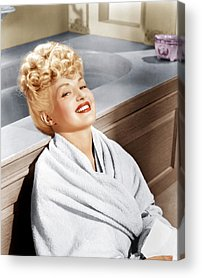 1940s Hairstyles Acrylic Prints