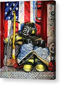 Fire Truck Acrylic Prints
