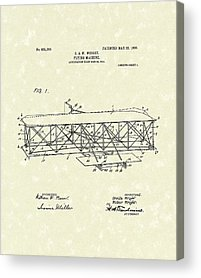 Patent work Drawings Acrylic Prints